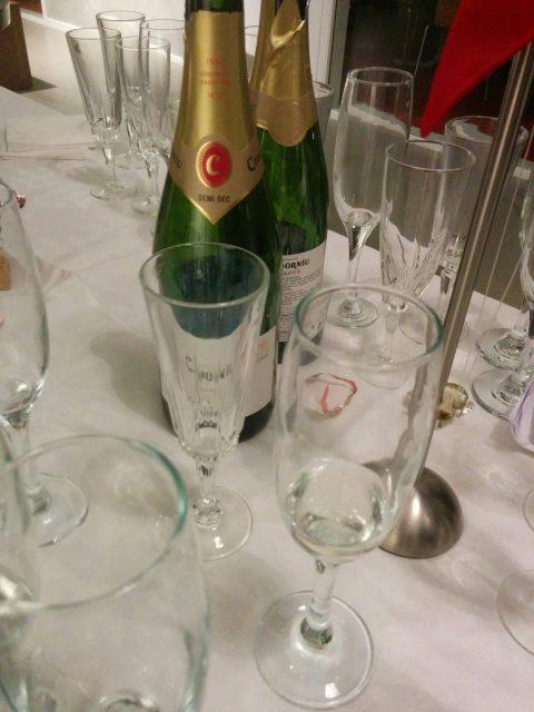 Godt nytår - vi startede året med champagne og kransekage